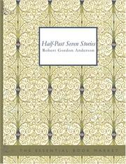 Cover of: Half-Past Seven Stories (Large Print Edition) | Robert Gordon Anderson