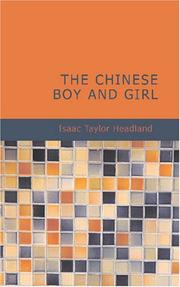 Cover of: The Chinese Boy and Girl