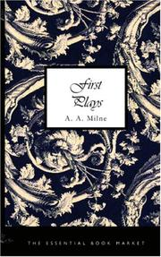 Cover of: First plays