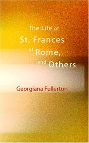 Cover of: The Life of St. Frances of Rome and Others