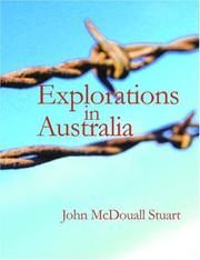 Cover of: Explorations in Australia (Large Print Edition) | John McDouall Stuart