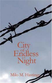Cover of: City of Endless Night | Milo Milton Hastings
