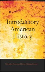 Cover of: Introductory American History | Elbert Jay Benton