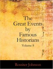 Cover of: The Great Events by Famous Historians, Volume 8: The Later Renaissance