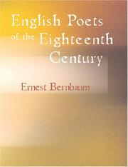 Cover of: English Poets of the Eighteenth Century