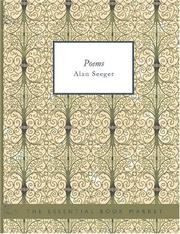 Cover of: Poems by Alan Seeger