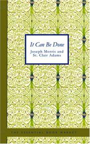 Cover of: It Can Be Done