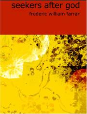 Cover of: Seekers after God (Large Print Edition) | Frederic William Farrar