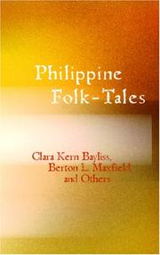Cover of: Philippine Folk-Tales