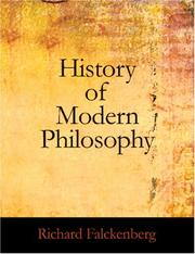 Cover of: History of Modern Philosophy (Large Print Edition) | Richard Falckenburg