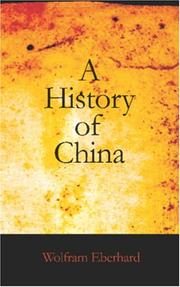 Cover of: Chinas Geschichte