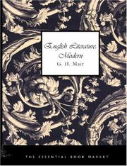 Cover of: English Literature: Modern (Large Print Edition) | G. H. Mair