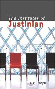 Cover of: The Institutes of Justinian