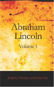Cover of: Abraham Lincoln, Volume 1