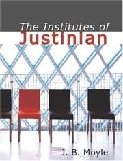 Cover of: TheInstitutes of Justinian