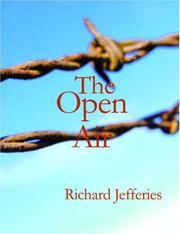 Cover of: The Open Air (Large Print Edition) | Richard Jefferies