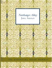 Cover of: Northanger Abbey (Large Print Edition) | Jane Austen