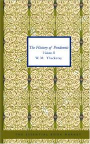 Cover of: The History of Pendennis, Volume II