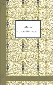 Cover of: Maria (English): or the Wrongs of Woman