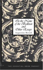 Cover of: In the Name of the Bodleian and Other Essays