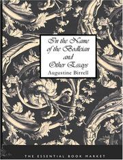 Cover of: In the Name of the Bodleian and Other Essays (Large Print Edition) | Augustine Birrell