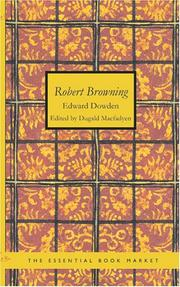 Cover of: Robert Browning