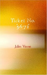 "Cover of: Ticket No. ""9672"""