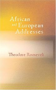 Cover of: African and European Addresses