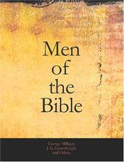 Cover of: Men of the Bible (Large Print Edition) | George Milligan