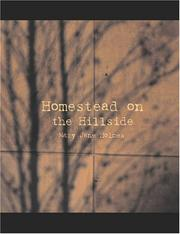 Cover of: Homestead on the Hillside (Large Print Edition) | Mary Jane Holmes