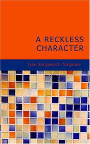 Cover of: A reckless character: and other stories.