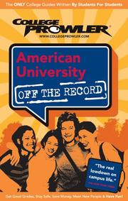 Cover of: American University DC 2007 | College Prowler
