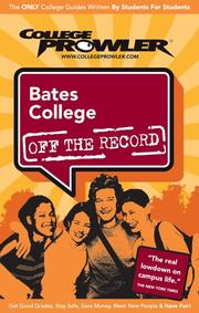 Cover of: Bates College Me 2007 | College Prowler