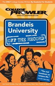 Cover of: Brandeis University Ma 2007 (Off the Record)