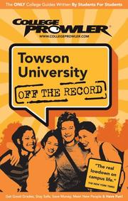 Cover of: Towson University MD 2007 | College Prowler