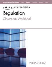 Cover of: Kaplan CPA Review Regulation 2006 | Kaplan CPA Education