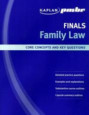 Cover of: Kaplan PMBR Finals: Family Law | Kaplan PMBR