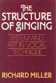 Cover of: The structure of singing