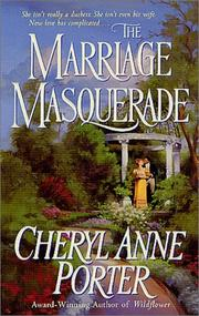 Cover of: The marriage masquerade | Cheryl Anne Porter