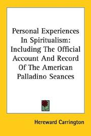 Cover of: Personal Experiences In Spiritualism