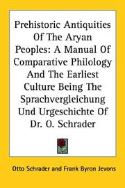 Cover of: Prehistoric antiquities of the Aryan peoples