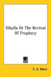 Cover of: Sibylla Or The Revival Of Prophecy
