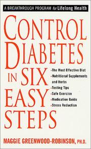 Cover of: Control Diabetes in Six Easy Steps