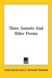 Cover of: Three sunsets and other poems