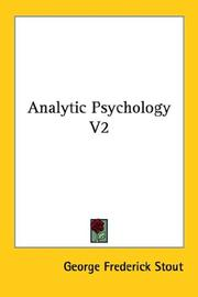 Cover of: Analytic Psychology V2 | George Frederick Stout