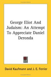 Cover of: George Eliot And Judaism