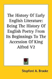 Cover of: The History Of Early English Literature | Stopford A. Brooke