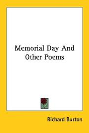 Cover of: Memorial Day And Other Poems | Richard Burton