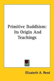 Cover of: Primitive Buddhism