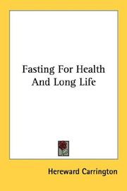 Cover of: Fasting For Health And Long Life